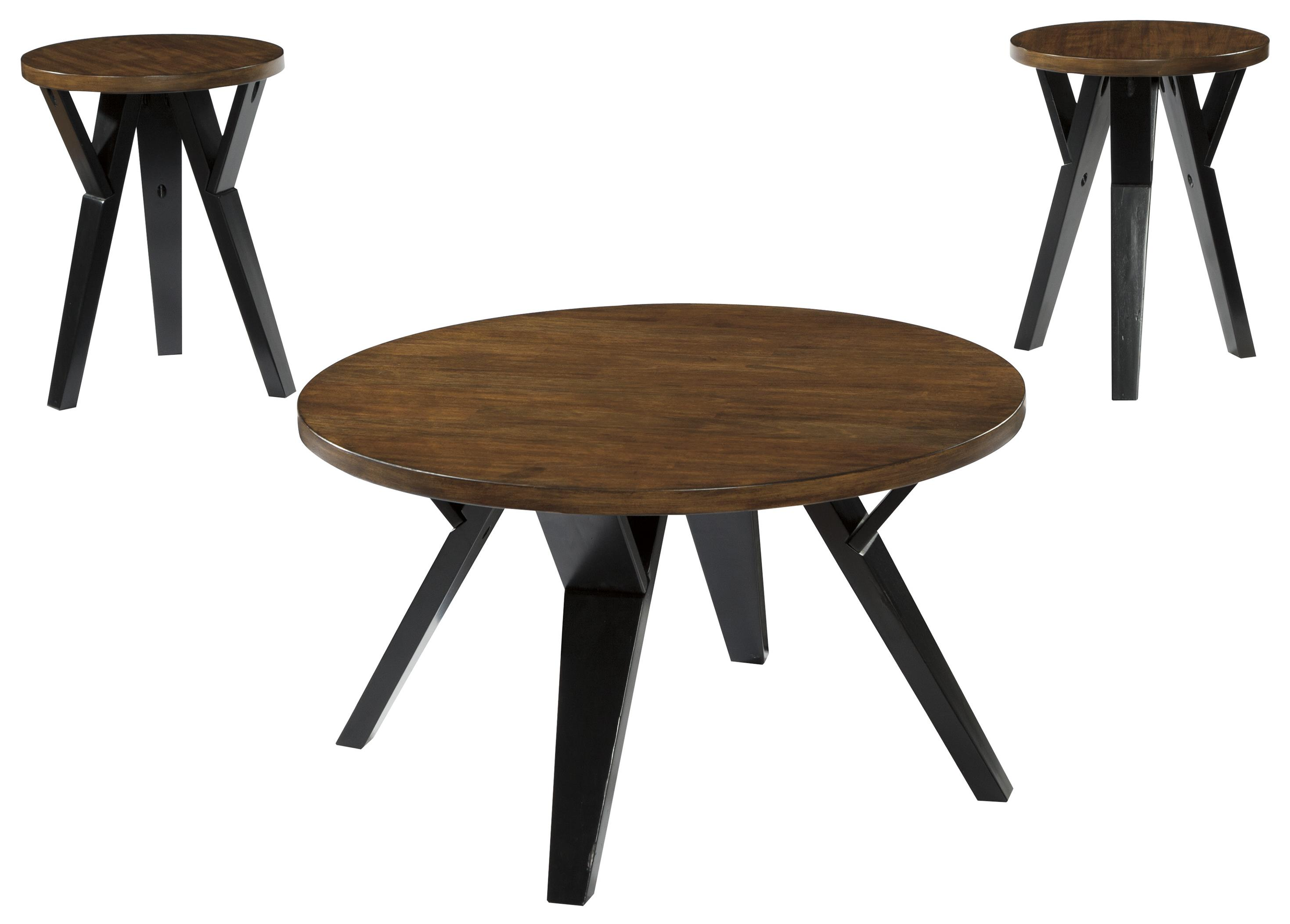 Ingel Occasional Table Set by Signature Design by Ashley at Beck's Furniture