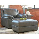 Signature Design by Ashley Islebrook Chair & Ottoman - Item Number: 1520220+14
