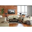 Signature Design by Ashley Islebrook Contemporary Leather Match Sofa