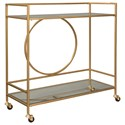 Signature Design by Ashley Jackford Bar Cart - Item Number: A4000165