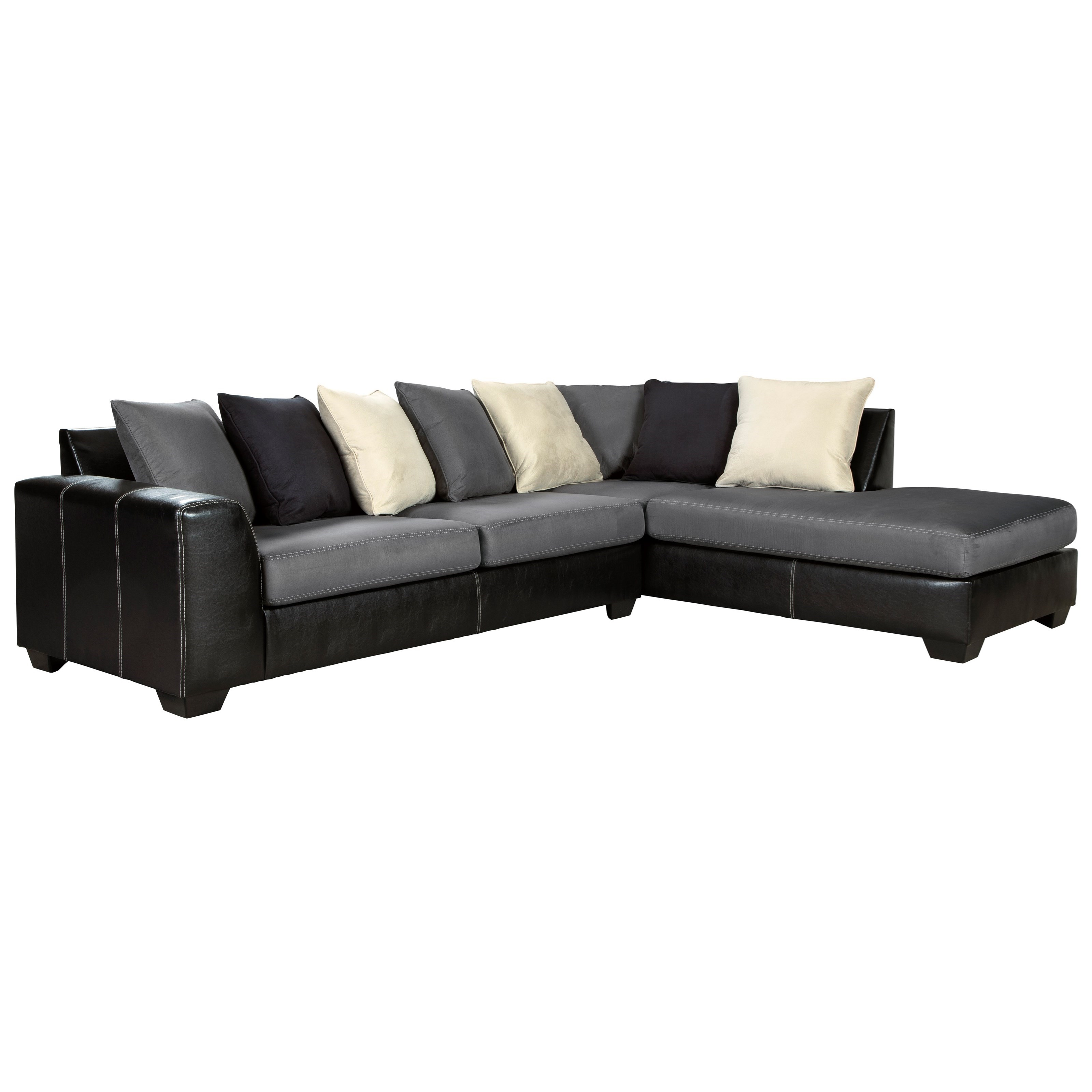 Jacurso Contemporary Sectional Sofa With Chaise By Ashley Signature Design At Dunk Bright Furniture