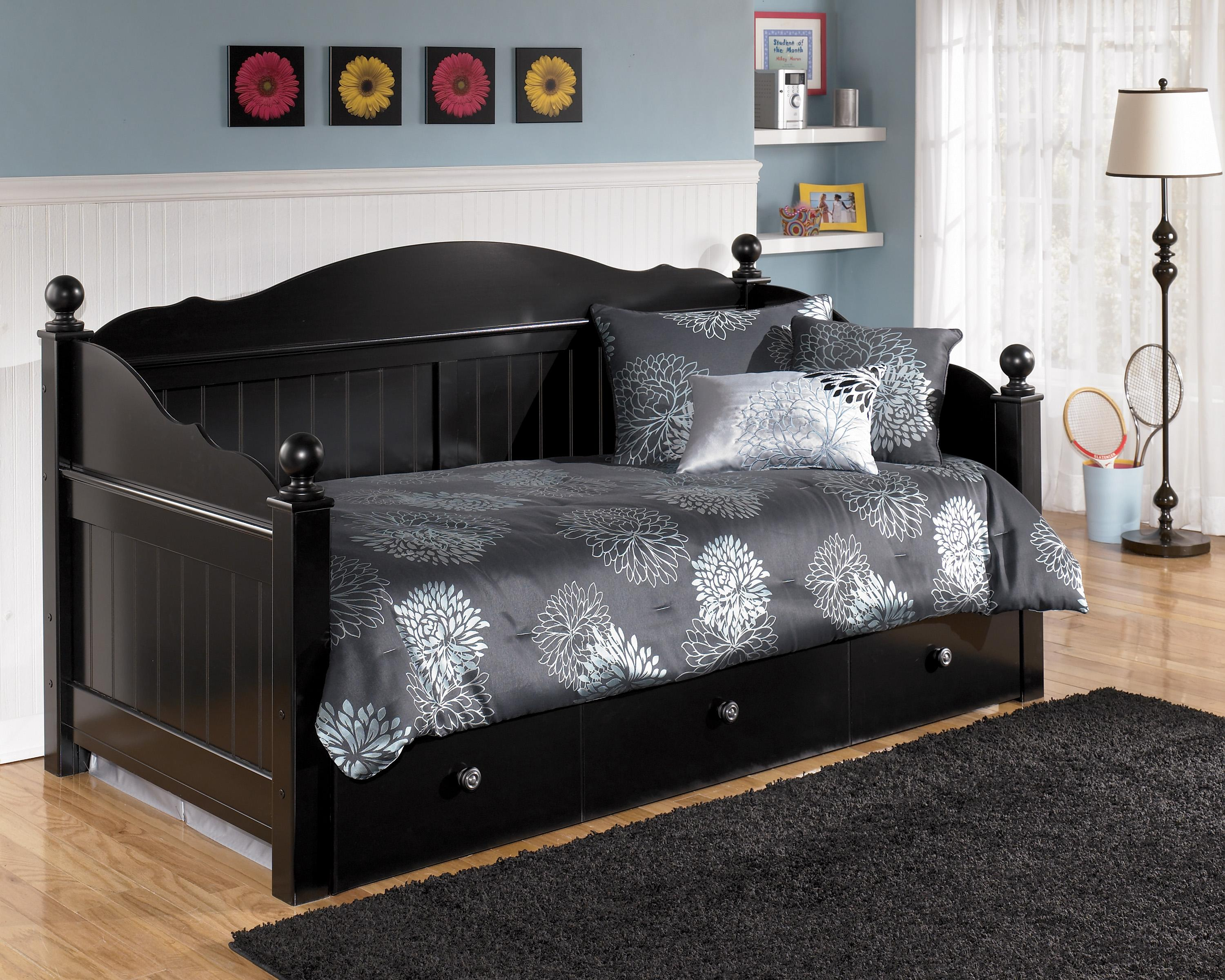 Signature Design by Ashley Jaidyn Day Bed with Trundle Panel - Item Number: B150-80+51+B100-81+B100-82