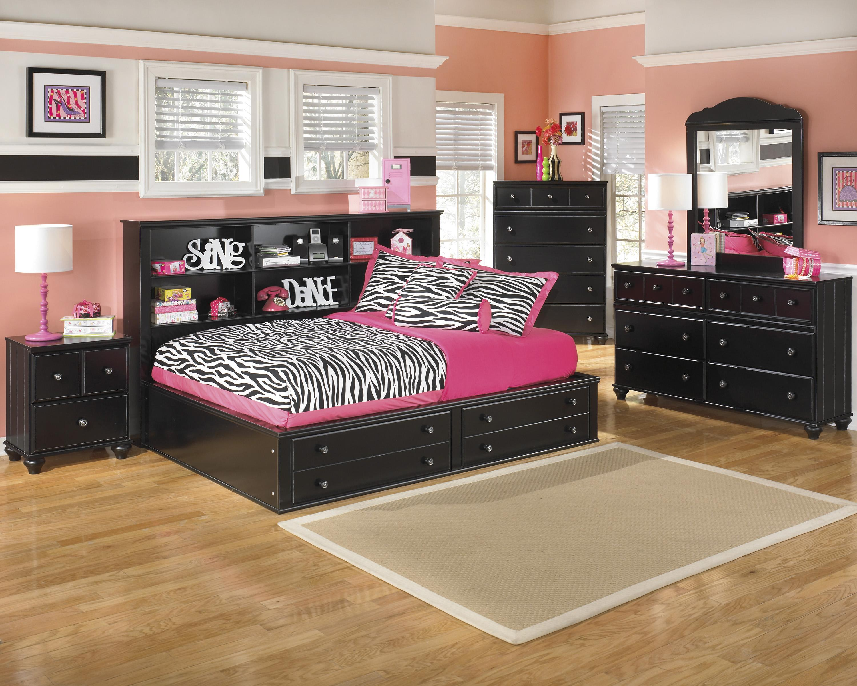 Signature design by ashley jaidyn full bookcase bed with - Ashley furniture full bedroom sets ...