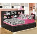 Signature Design by Ashley Jaidyn Full Bookcase Bed - Item Number: B150-85+05+86