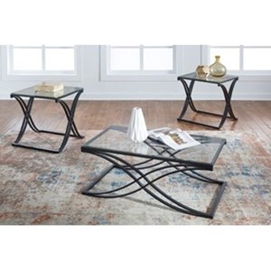 Signature Design by Ashley Jandor Contemporary 3-Piece Occasional Table Set