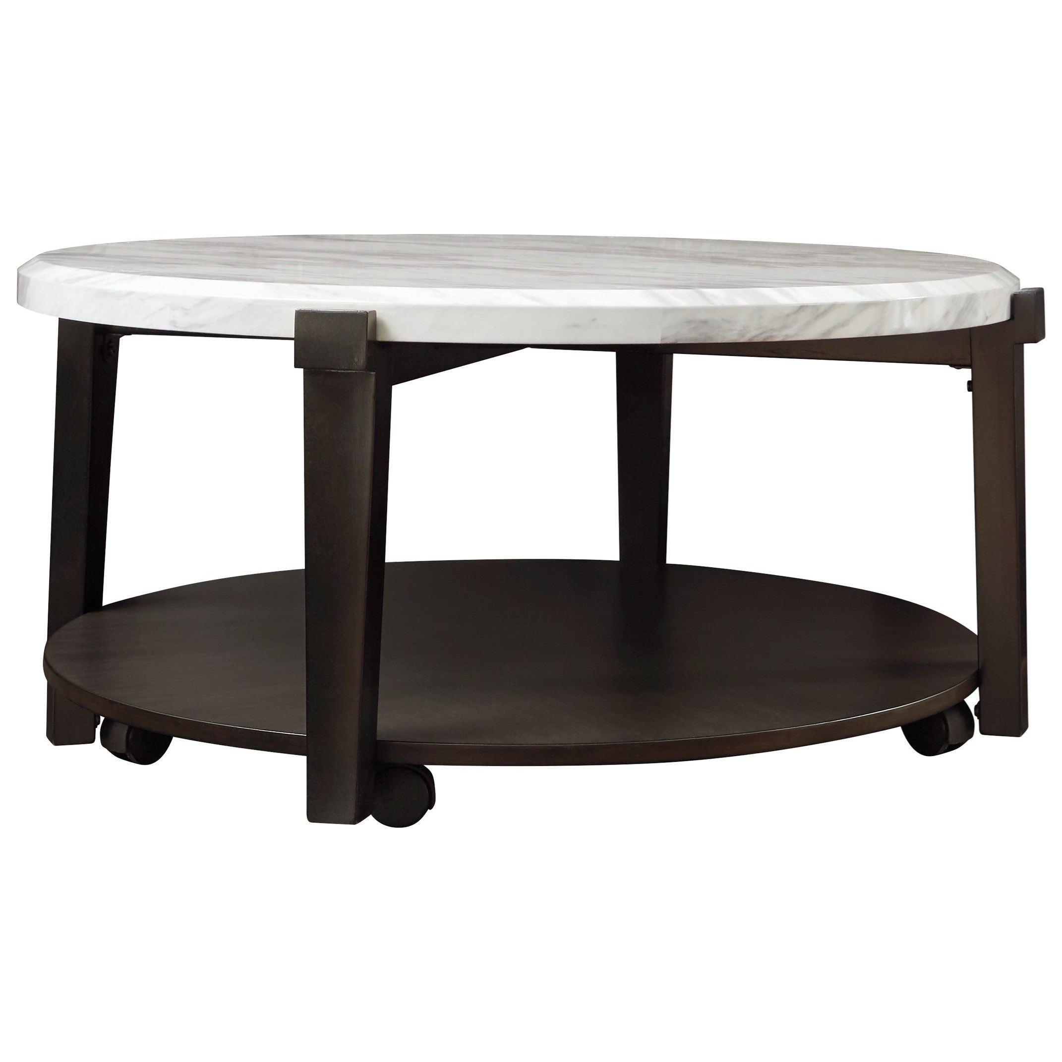 Janilly Round Cocktail Table by Signature Design by Ashley at Beck's Furniture