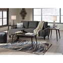 Signature Design by Ashley Jarreau Queen Sofa Sleeper with Pullout Cushion