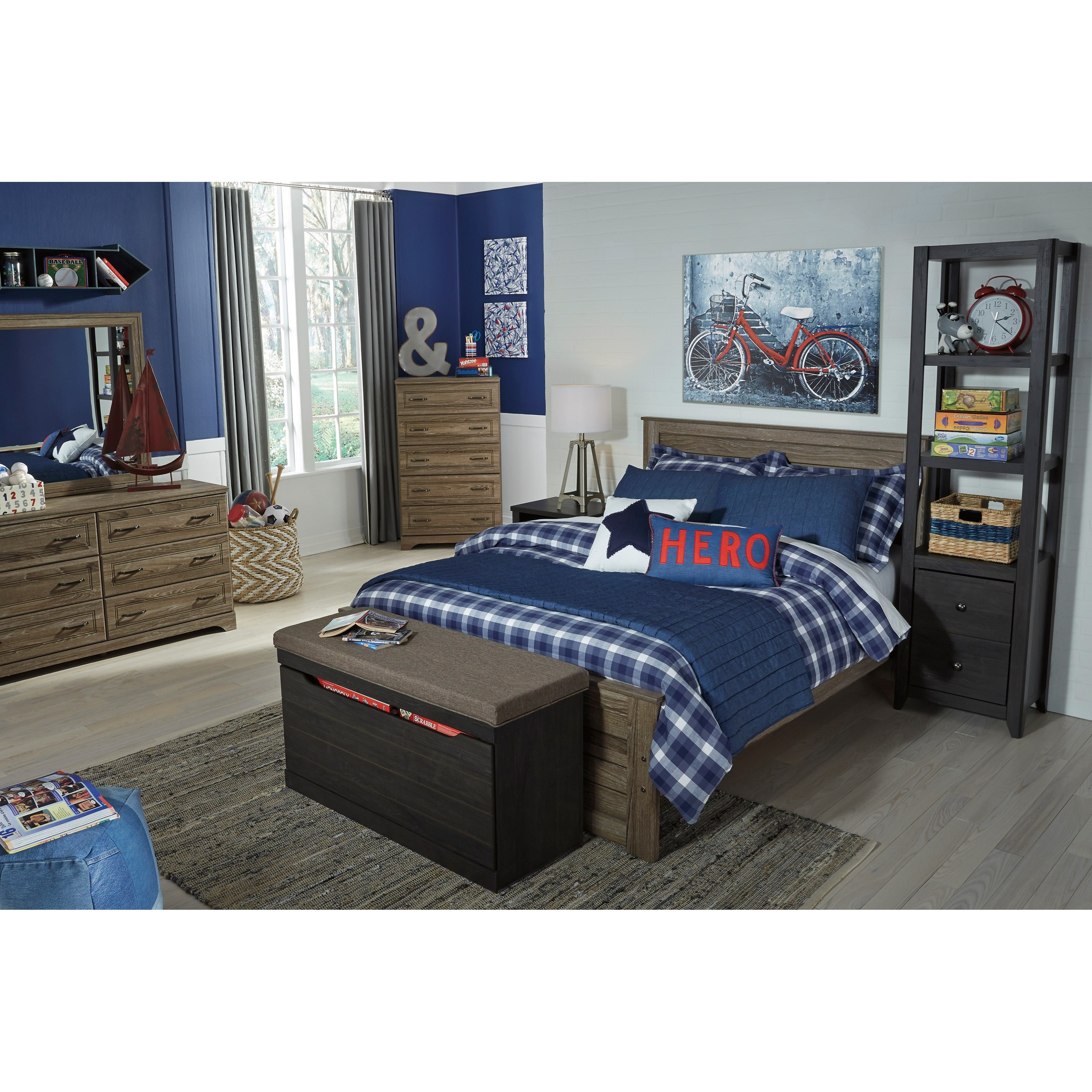 Ashley Signature Design Javarin Large Upholstered Storage Bench Dunk Bright Furniture