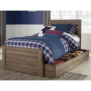 Signature Design by Ashley James Twin Panel Bed w/ Trundle Under Bed Storage