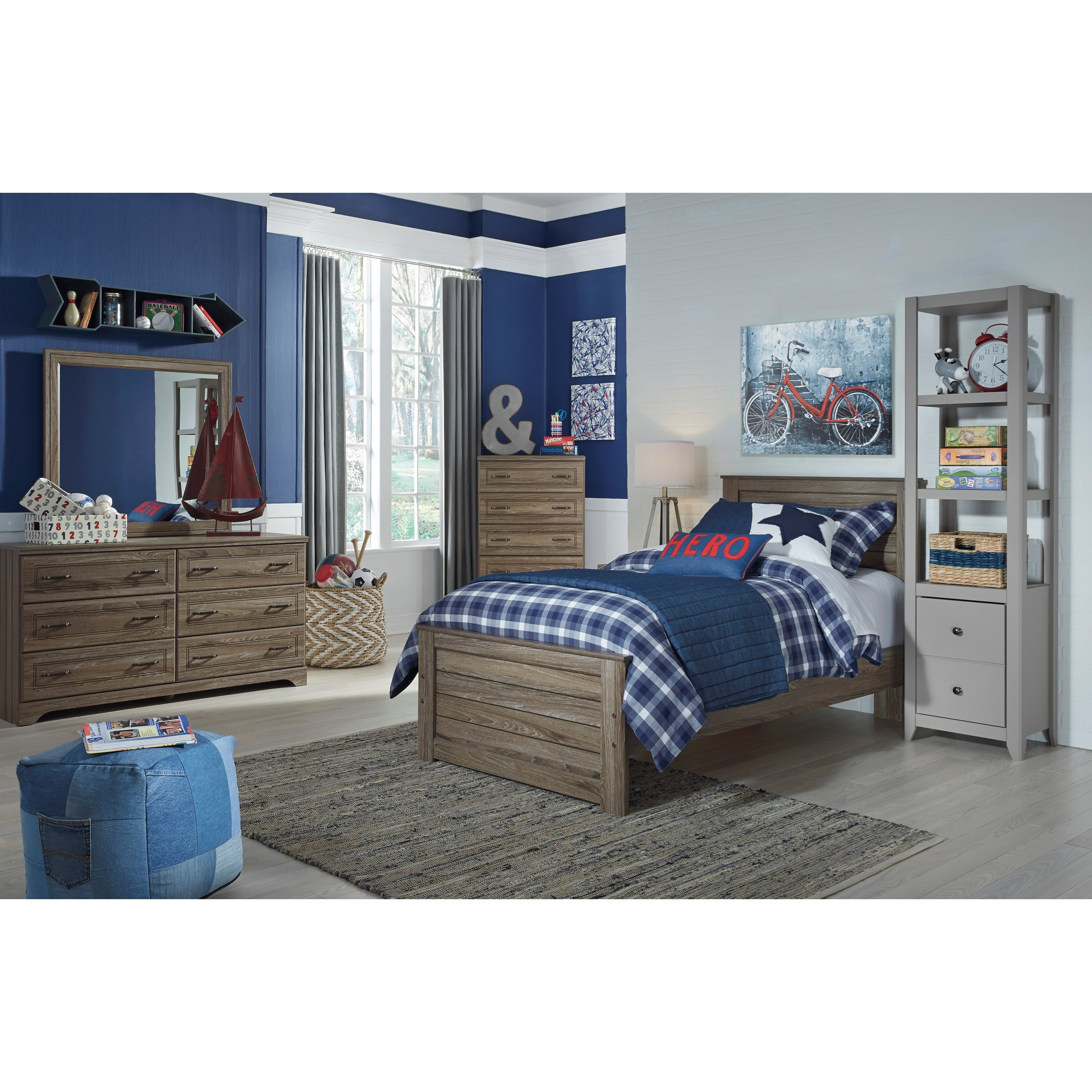James Twin Panel Bed Ruby Gordon Furniture Mattresses Panel Beds