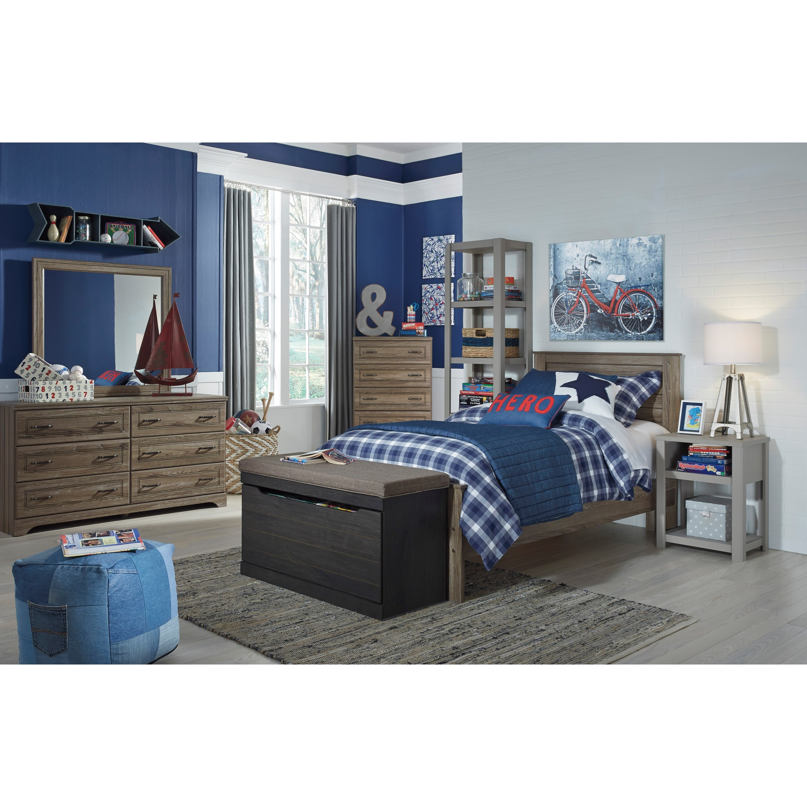 Benchcraft Javarin Twin Panel Bed Virginia Furniture
