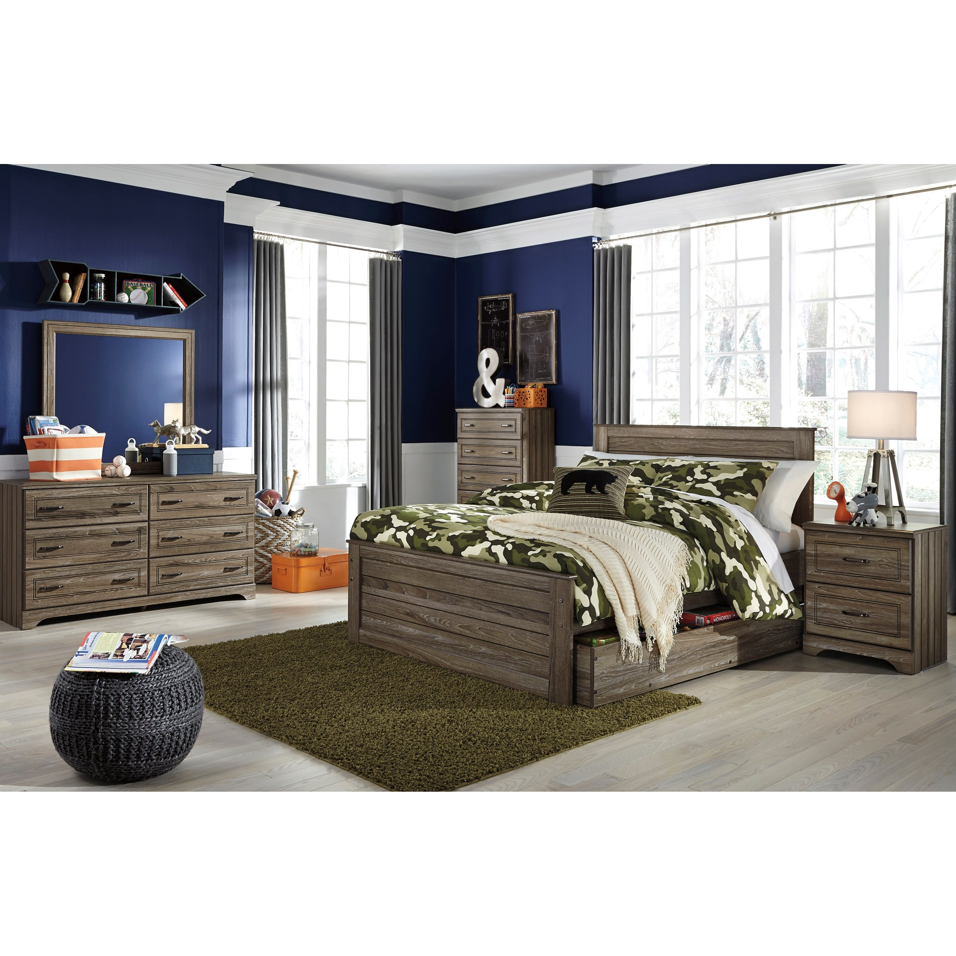 Signature Design By Ashley Javarin Full Panel Bed W