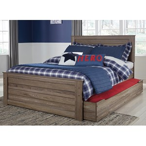Signature Design by Ashley Javarin Full Panel Bed w/ Trundle Under Bed Storage
