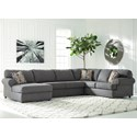 Signature Design by Ashley Jayceon 3-Piece Sectional with Chaise - Item Number: 6490216+34+67