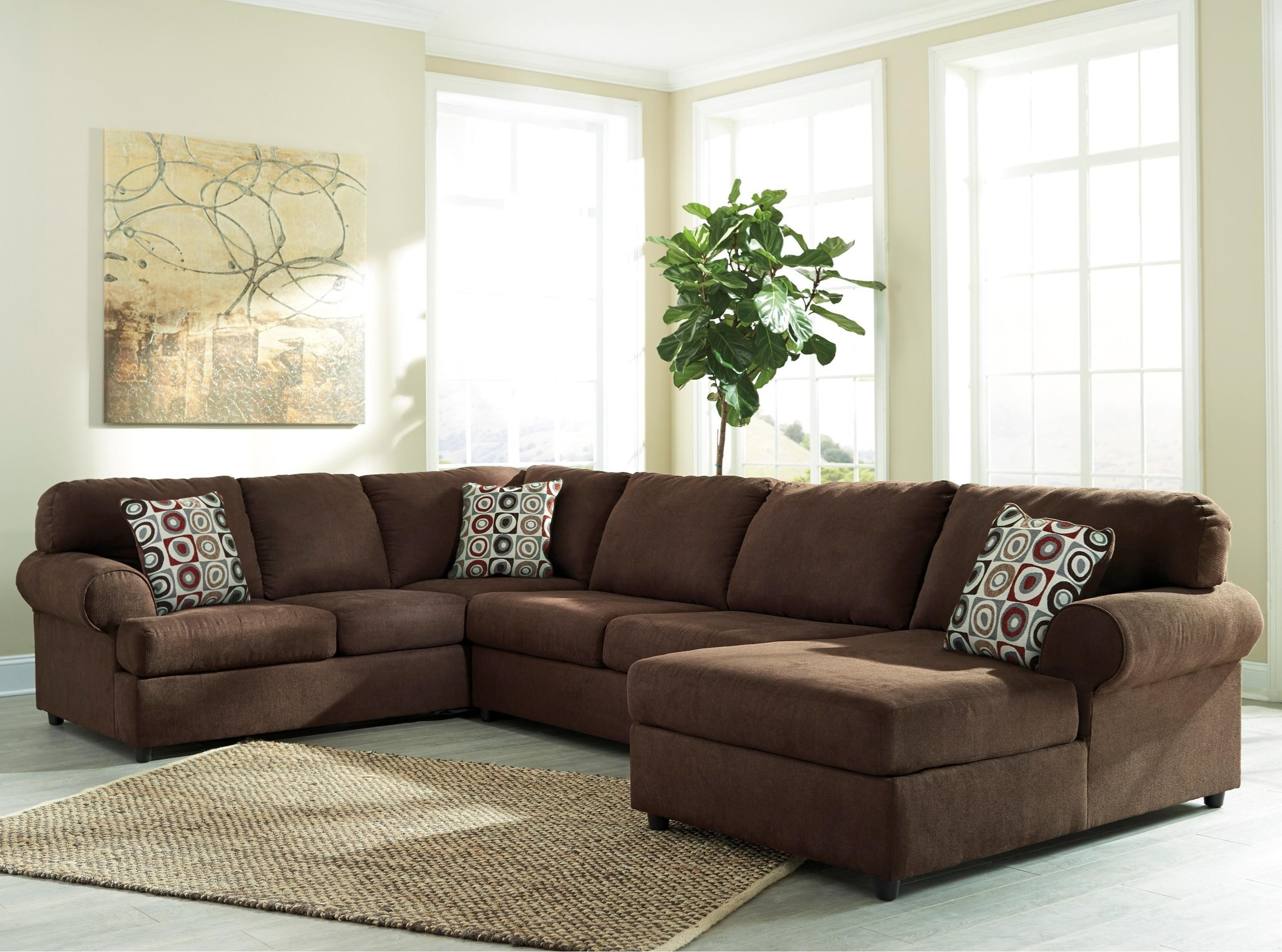 Ashley signature design jayceon 3 piece sectional with for Ashley furniture chaise lounge couch