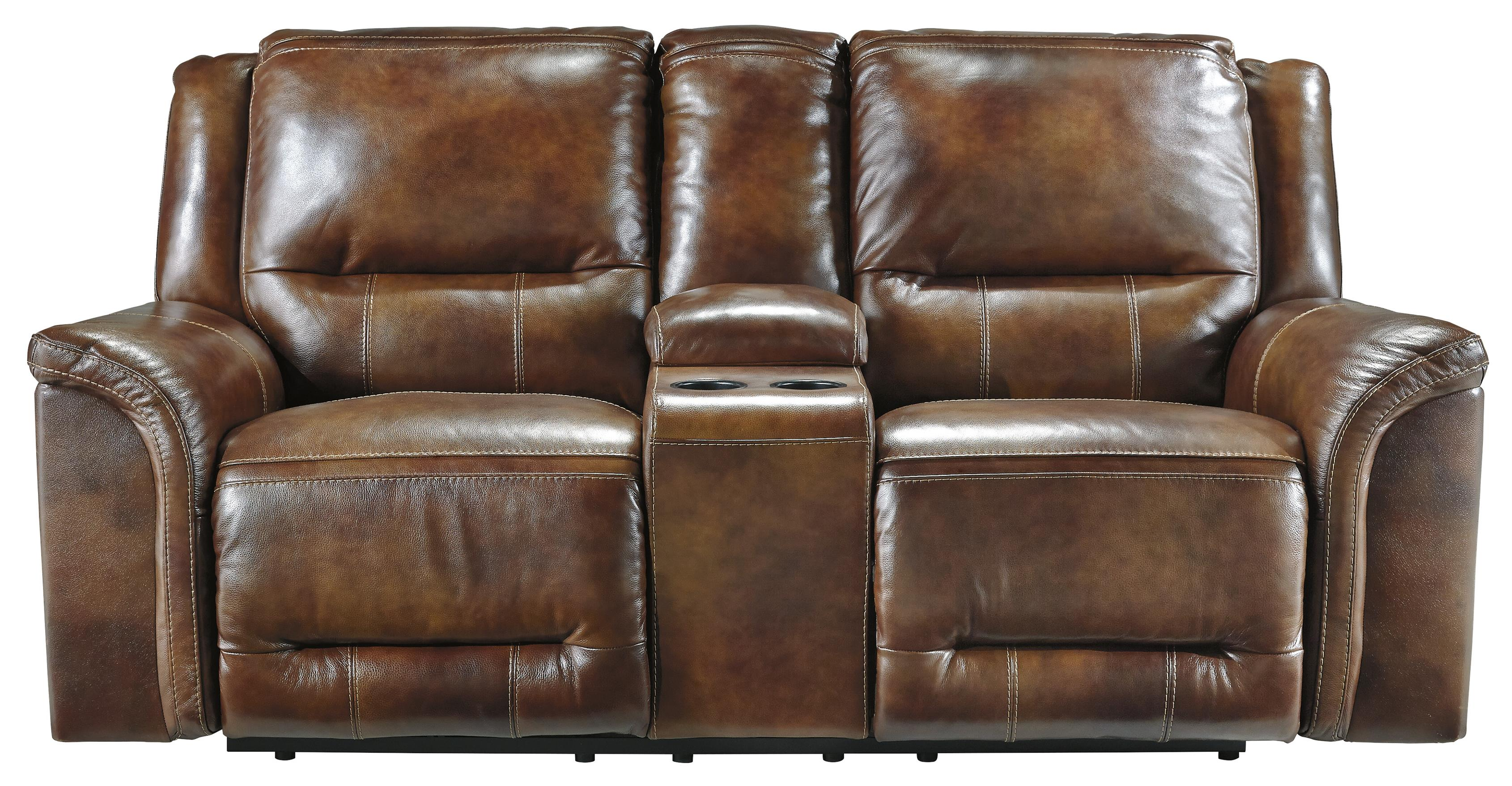 Signature Design by Ashley Jayron Double Reclining Loveseat w/ Console - Item Number: U7660094