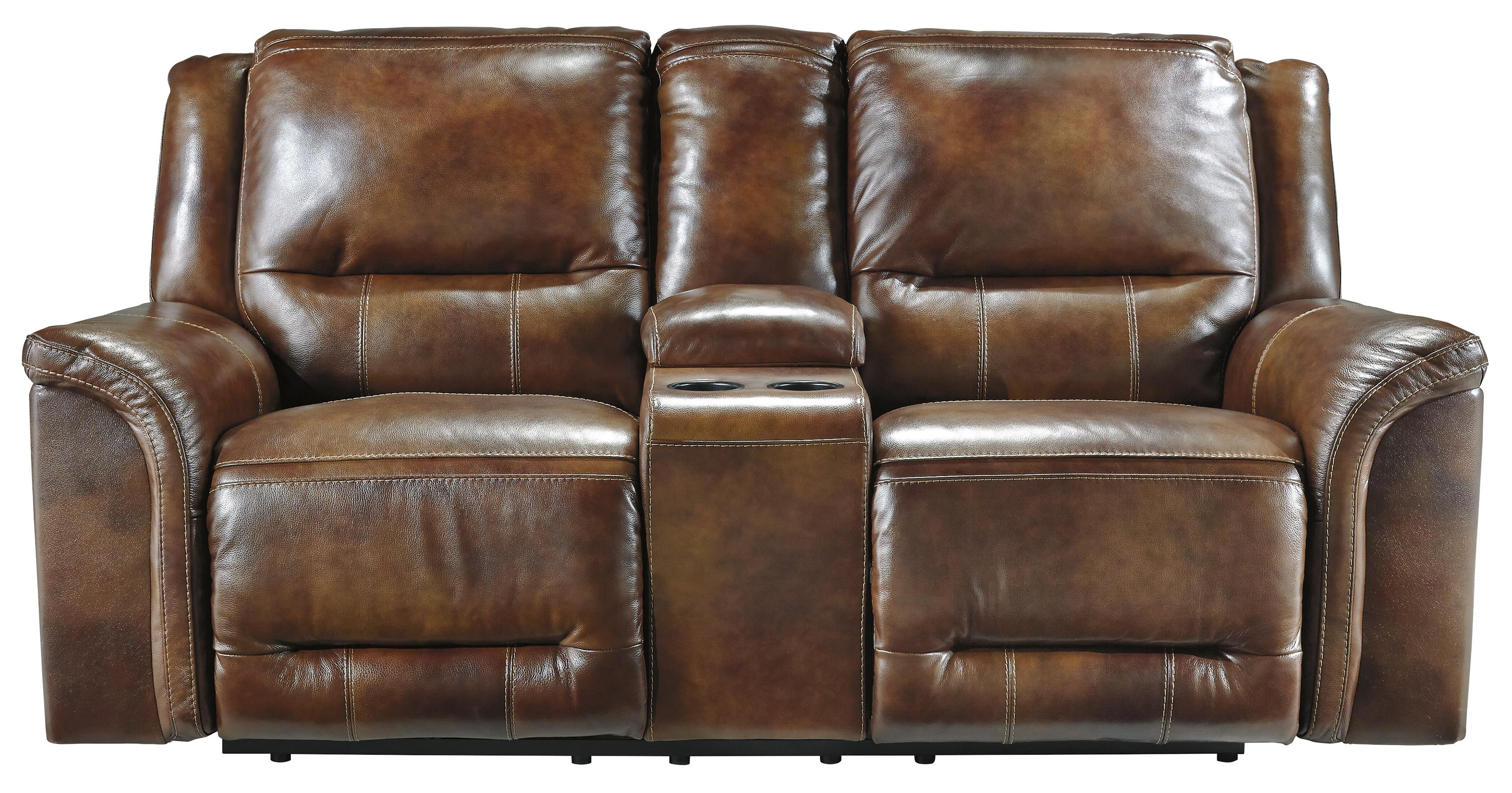 Signature Design by Ashley Jayron Double Reclining Power Loveseat w/ Console - Item Number: U7660096
