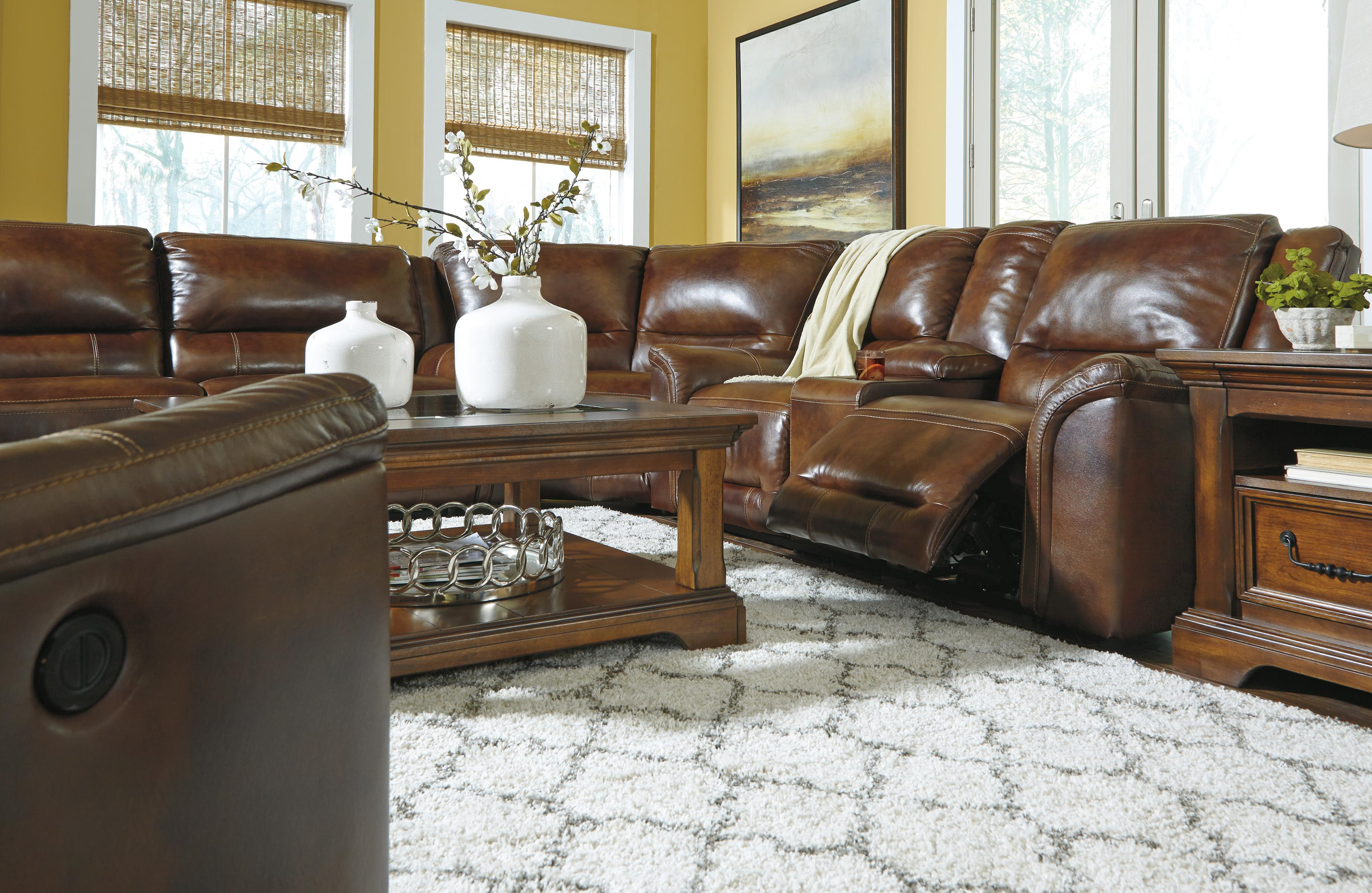 Signature Design By Ashley Jayron Contemporary Leather Match Power Rocker Recliner Miskelly