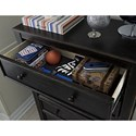 Signature Design by Ashley Jaysom Five Drawer Chest in Rub Through Black Finish