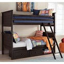 Signature Design by Ashley Jaysom Twin/Twin Bunk Bed with Under Bed Storage - Item Number: B521-59P+R+S+50