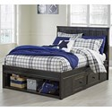 Signature Design by Ashley Jaysom Twin Panel Storage Bed - Item Number: B521-53+52S+83S+60