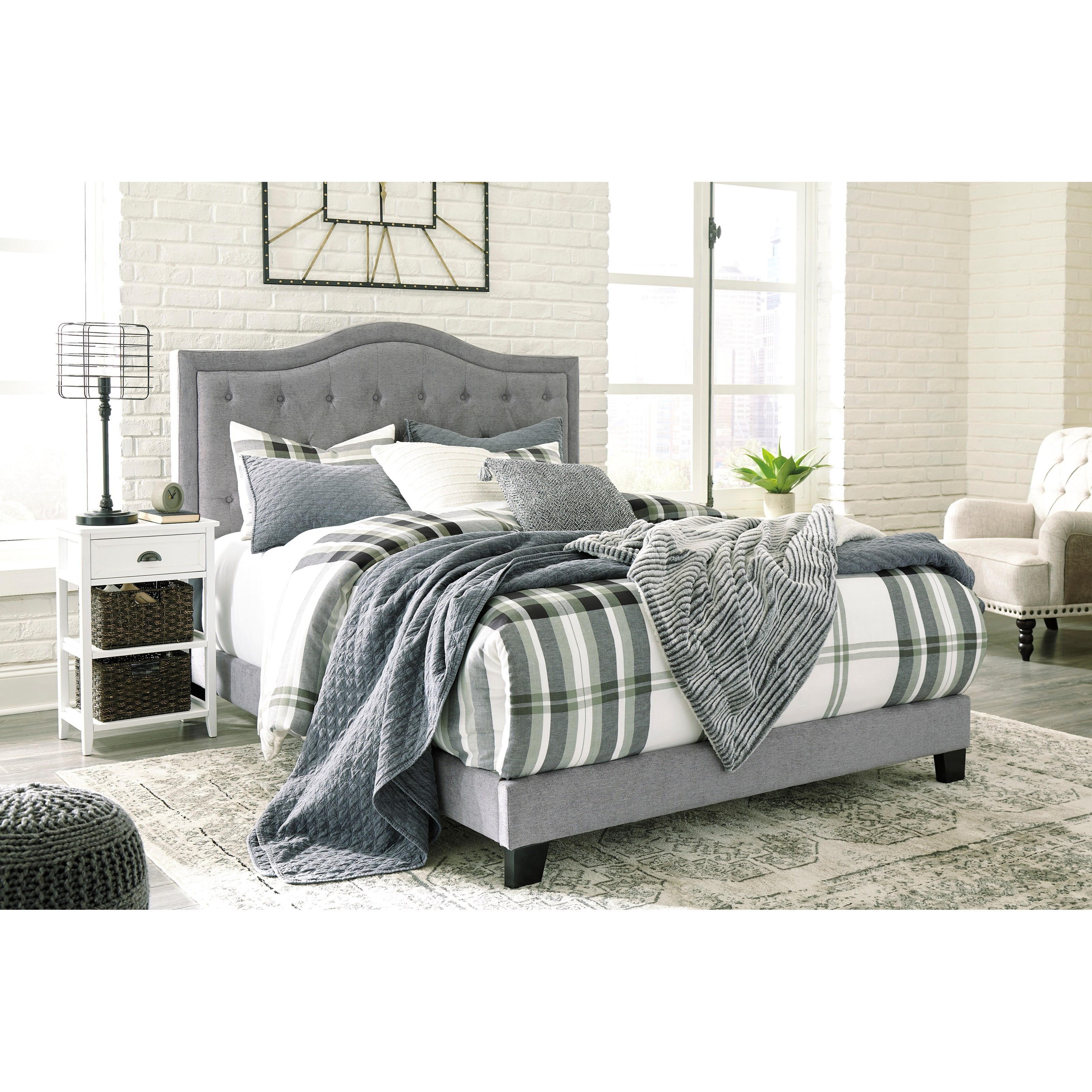 Signature Design By Ashley Jerary King Upholstered Bed