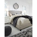 Signature Design by Ashley Jerary King Upholstered Bed with Button-Tufted Headboard