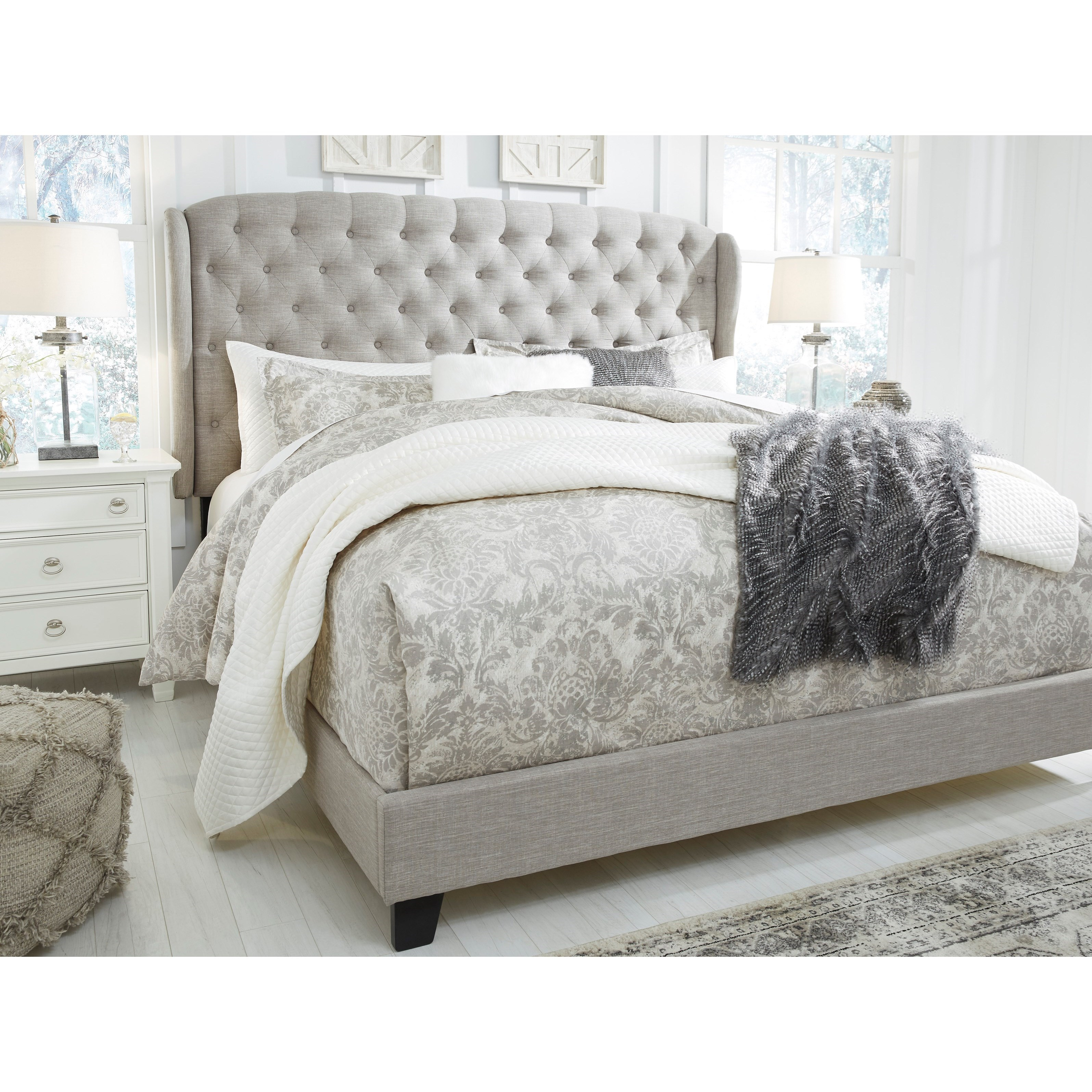 Signature Design By Ashley Jerary Queen Upholstered Bed
