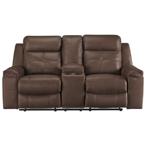 Signature Design by Ashley Jesolo Double Reclining Loveseat with Console