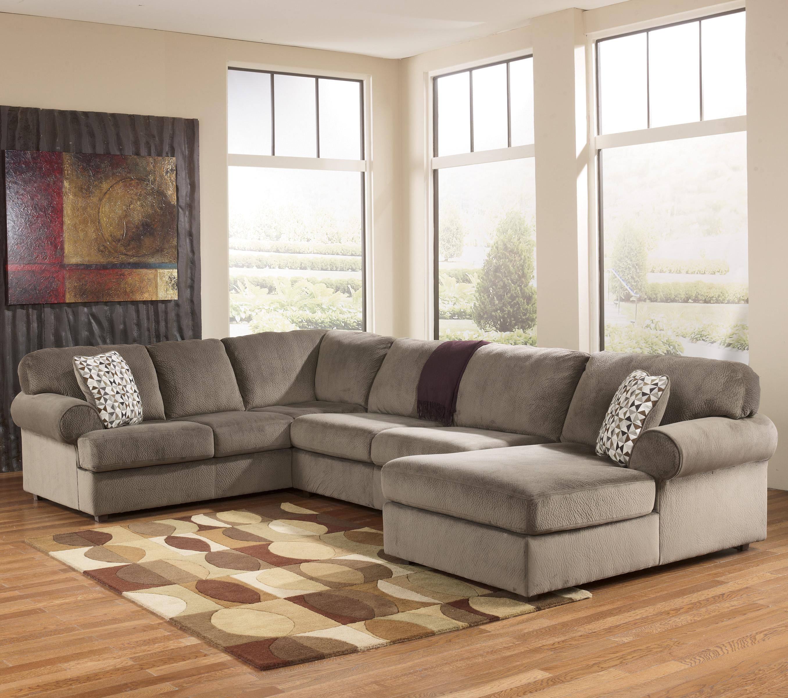 Signature design by ashley jessa place dune casual for Ashley chaise sectional