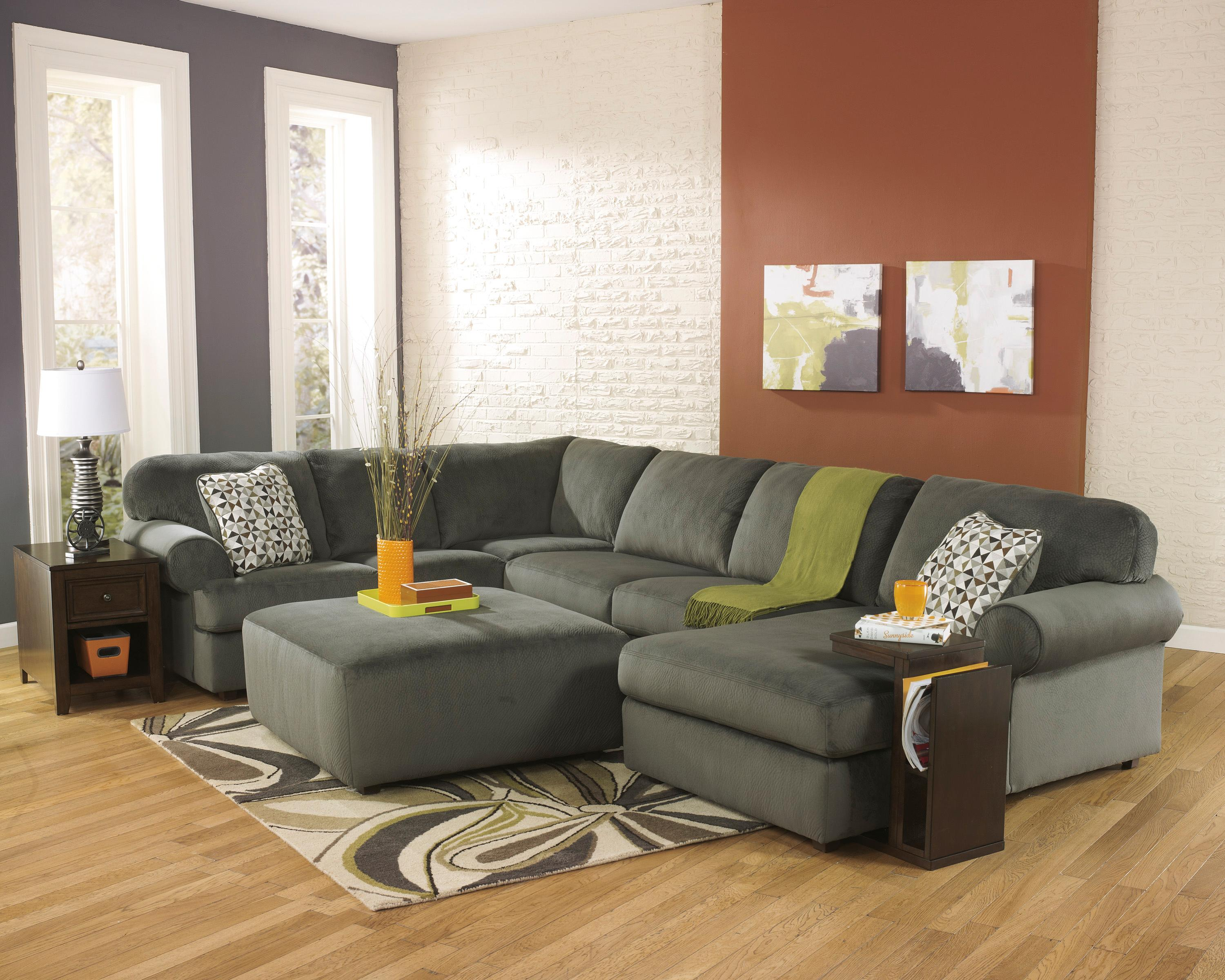 Signature Design by Ashley Jessa Place - Pewter Stationary Living Room Group - Item Number: 39803 Living Room Group 1