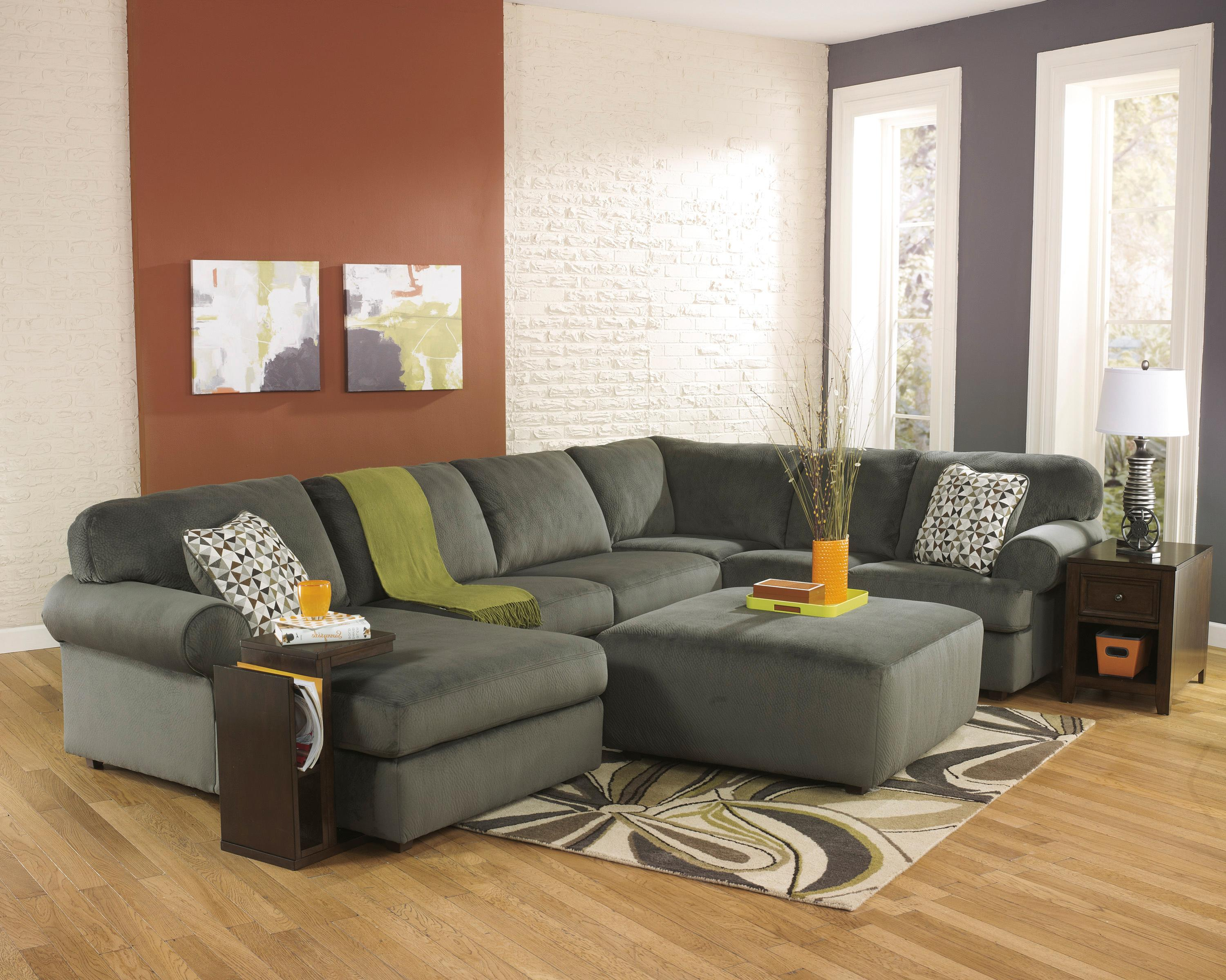 Signature Design by Ashley Jessa Place - Pewter Stationary Living Room Group - Item Number: 39803 Living Room Group 2