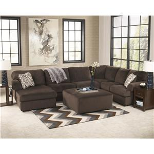 Ashley Signature Design Jessa Place  - Chocolate Stationary Living Room Group