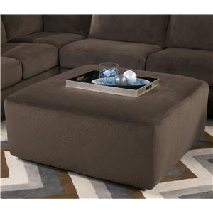 Signature Design by Ashley Jessa Place  - Chocolate Oversized Accent Ottoman