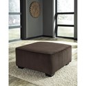 Signature Design by Ashley Jinllingsly Contemporary Oversized Accent Ottoman in Corduroy Fabric