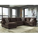 Signature Design by Ashley Jinllingsly 3-Piece Sectional with Chaise - Item Number: 7250116+34+67