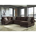 Signature Jinllingsly 3-Piece Sectional with Chaise - Item Number: 7250166+34+17