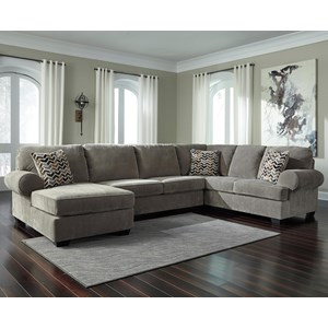 Signature Design by Ashley Jinllingsly 3-Piece Sectional with Chaise