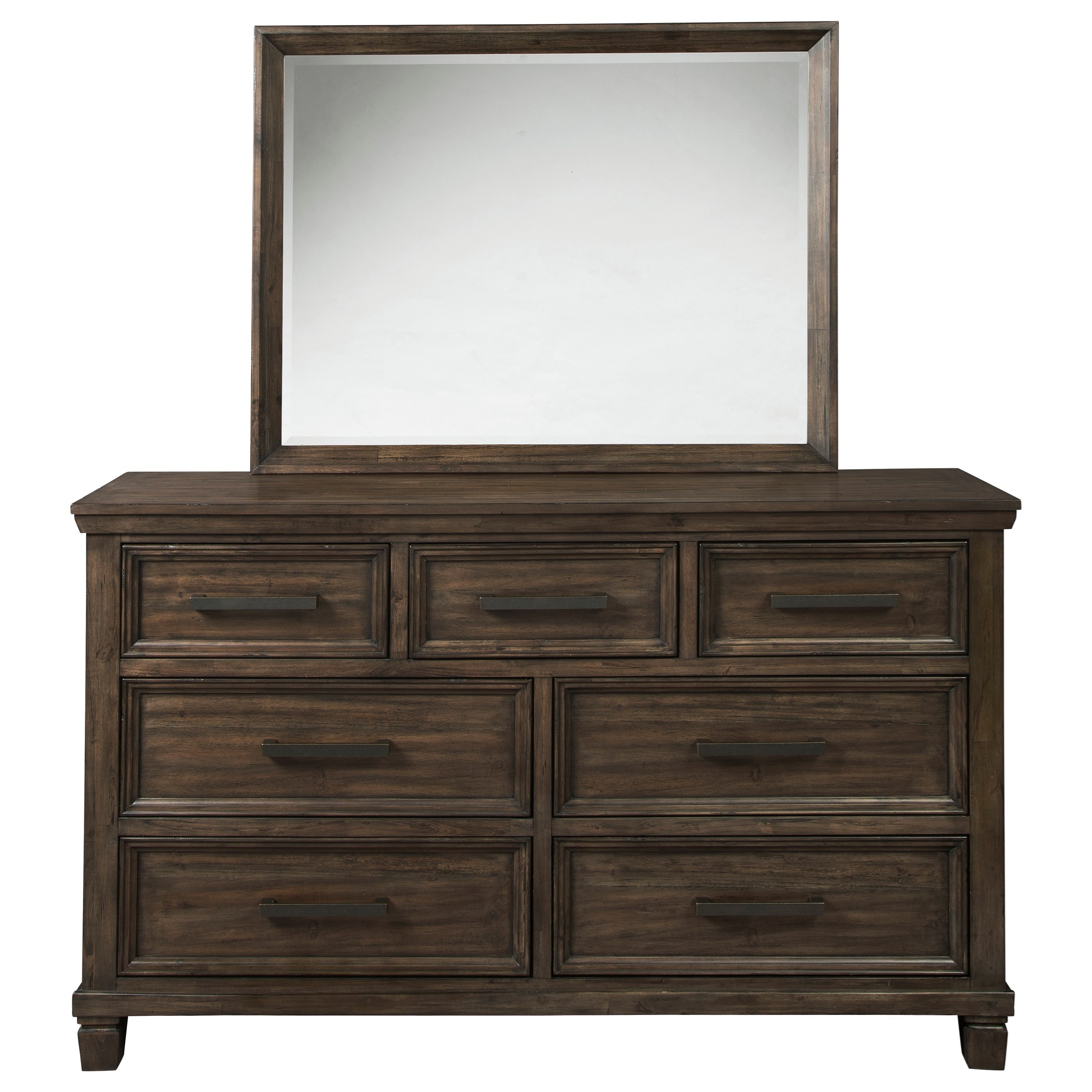 Johurst Dresser and Mirror Set by Signature at Walker's Furniture