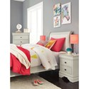 Signature Design by Ashley Jorstad Traditional Full Upholstered Sleigh Bed - Bed Shown May Not Represent Bed Size Indicated