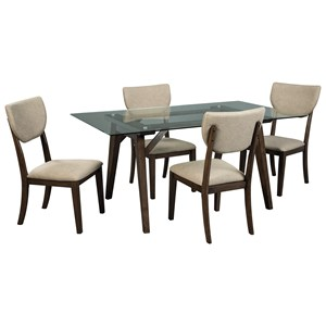 Signature Design by Ashley Joshton 5 Piece Rectangular Table Set