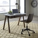 Signature Design by Ashley Joshton Contemporary Home Office Desk with Faux Concrete Top