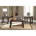Signature Design by Ashley Joyla Casual Rustic Occasional Table Set