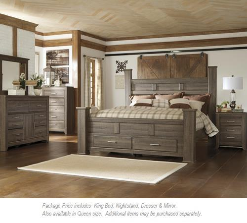 Signature Design by Ashley Juararo 4pc King Bedroom - Item Number: B251 KG BDMNS