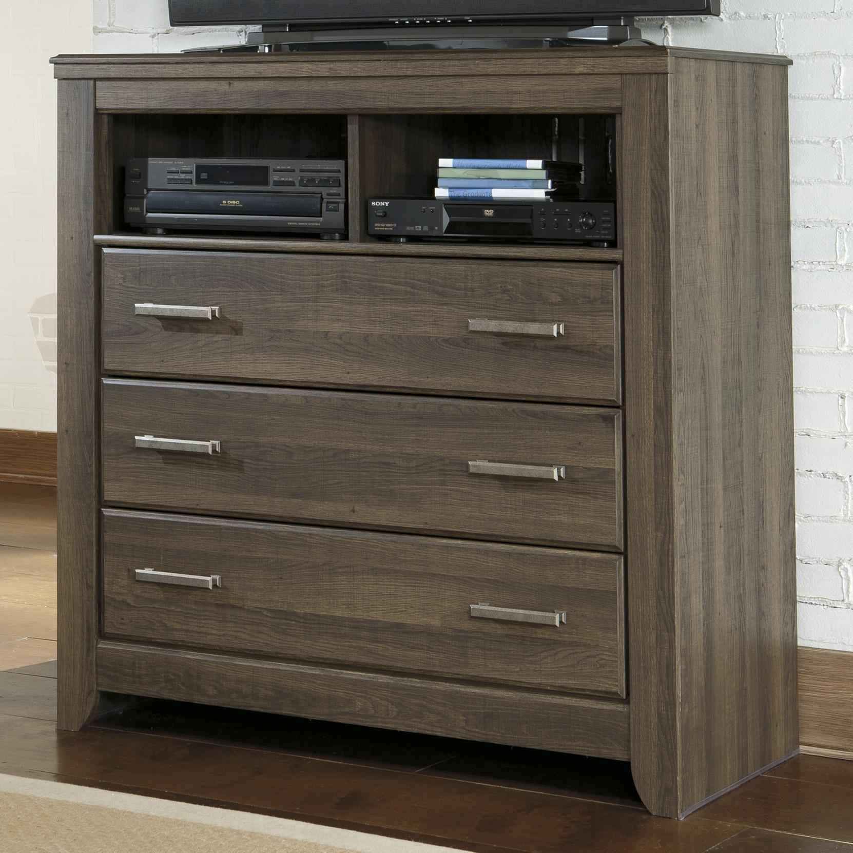 Signature Design By Ashley Juararo 3 Drawer Media Chest Furniture And Appliancemart Media Chests