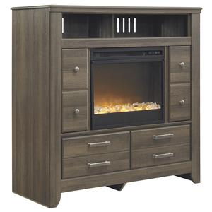 Signature Design by Ashley Sawyer Media Chest with Electric Fireplace Insert