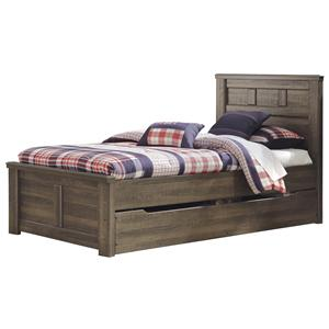 Signature Design by Ashley Sawyer Twin Panel Bed w/ Under Bed Storage