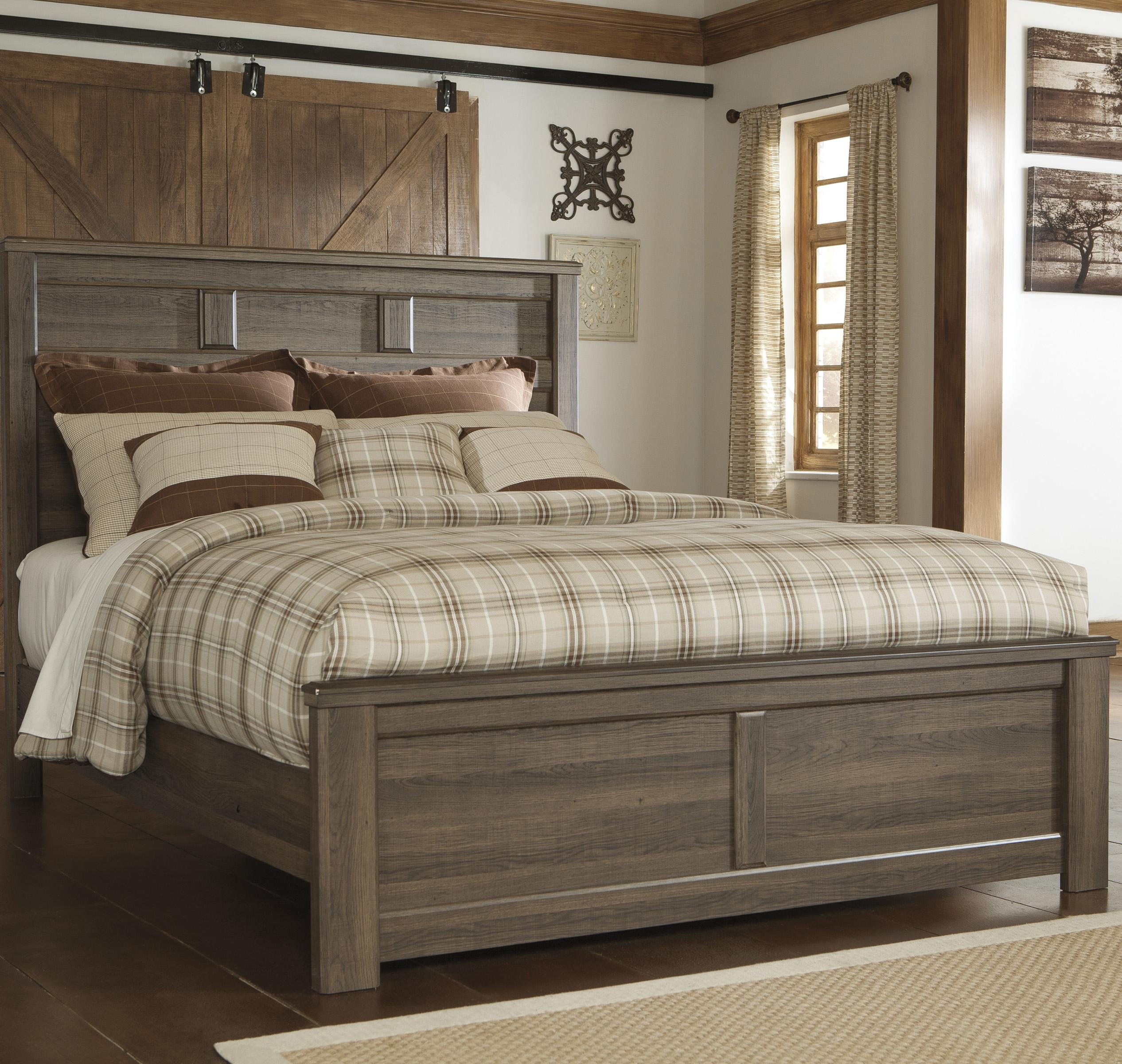 Signature Design by Ashley Juararo Queen Panel Bed - Item Number: B251-57+54+98