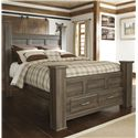 Signature Design by Ashley Remmy Queen Poster Storage Bed - Item Number: B251-67+64S+50+98