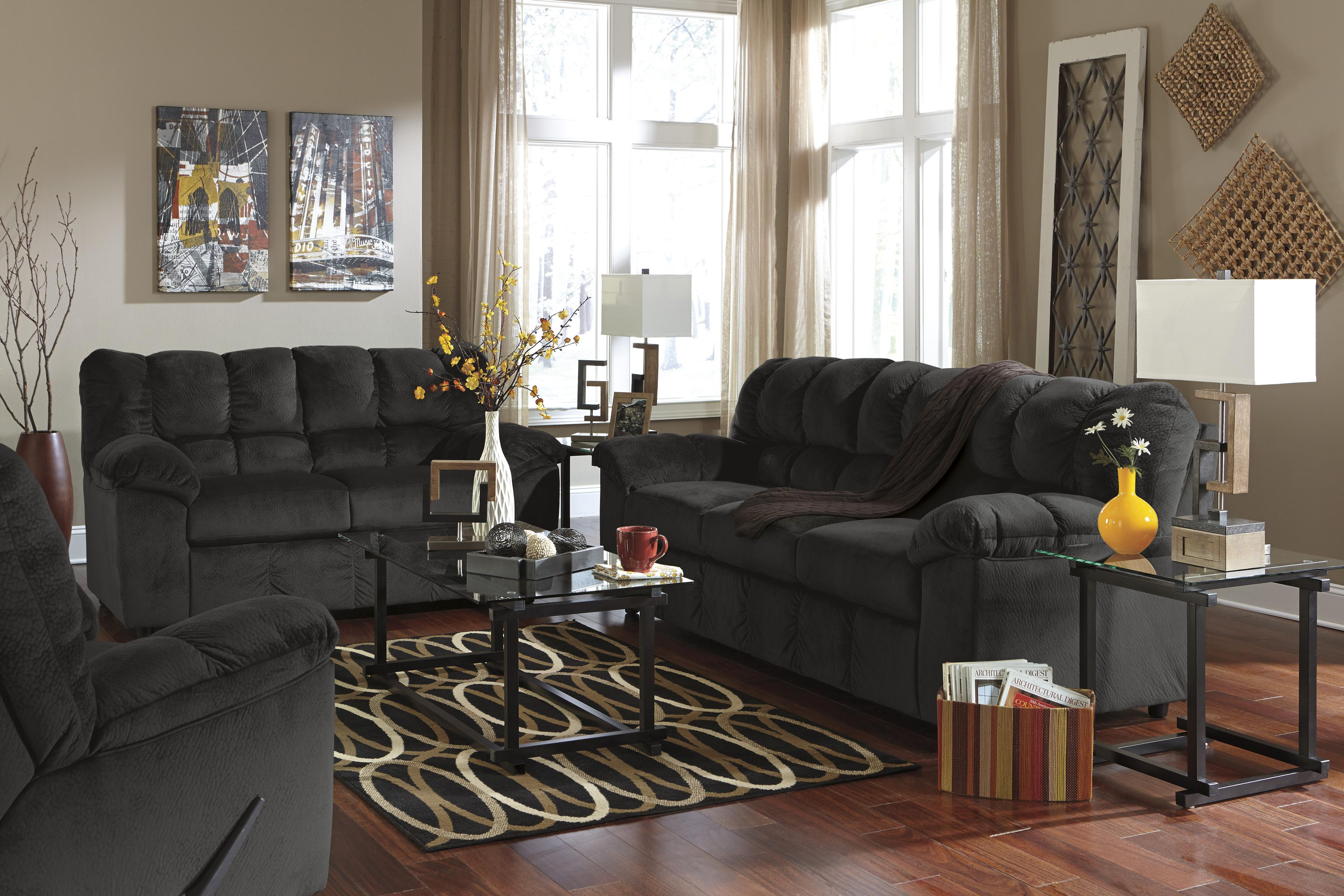 Signature Design by Ashley Julson - Ebony Stationary Living Room Group - Item Number: 26600 Living Room Group 2